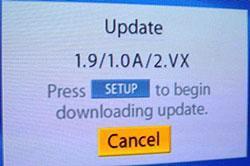 Toshiba HD DVD Firmware Beta 1.9 Screenshot