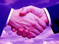 Purple Handshake