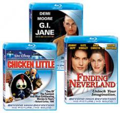 Finding Neverland, Chicken Little, G.I. Jane [Blu-ray Box Art]