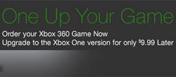 Amazon Xbox 360 to Xbox One game upgrade offer
