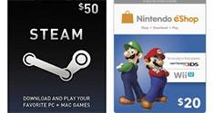 Steam eShop Game Cards Discount