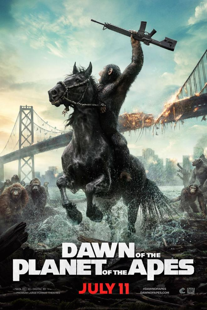 'Dawn of the Planet of the Apes' teaser poster