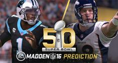 Madden NFL 16 Super Bowl 50 L Prediction news