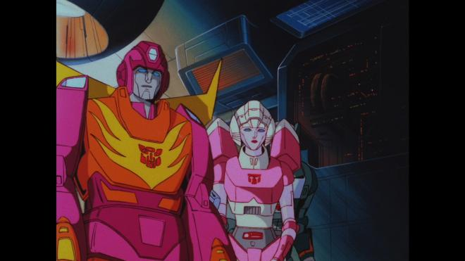 Transformers The Movie - Hot Rod & Arcee (Full Frame)