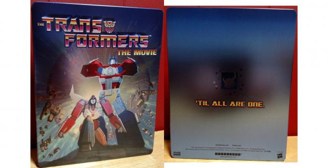 Transformers The Movie – Blu-ray SteelBook front & back