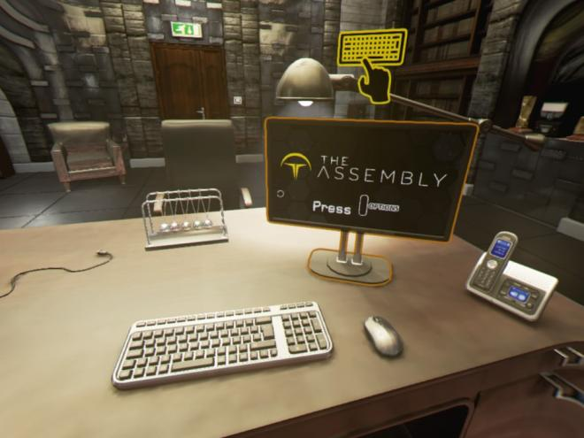 The Assembly PS VR Title Screen