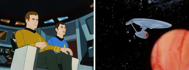 Star Trek Animated - Kirk, McCoy & Enterprise