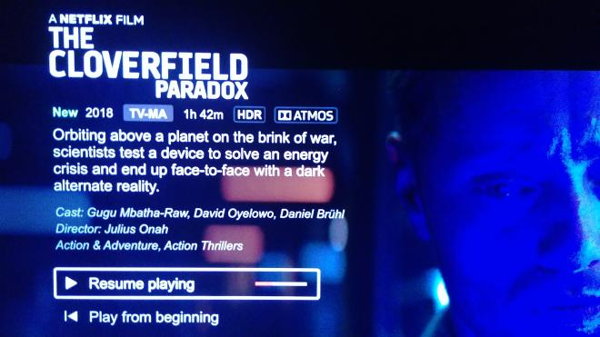 The Cloverfield Paradox - Netflix with Dolby Vision Ultra HD Review