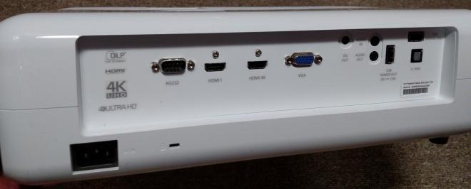 Optoma UHD50 back panel