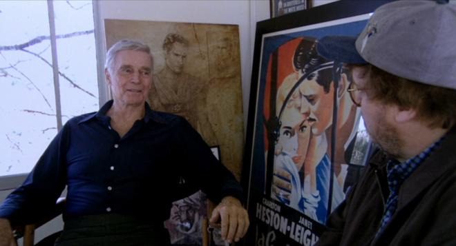 Bowling for Columbine - Charlton Heston & Michael Moore
