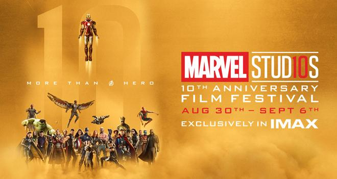 marvel 10th anniversary imax