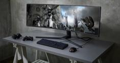 Samsung super ultra-wide monitor