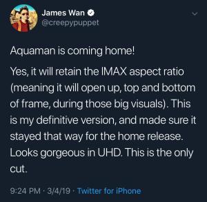 James Wan Aquaman Twitter