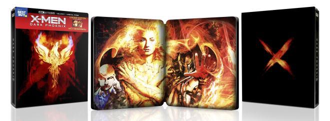 X-Men: Dark Phoenix - 4K Ultra HD Blu-ray (Best Buy Exclusive SteelBook) full package