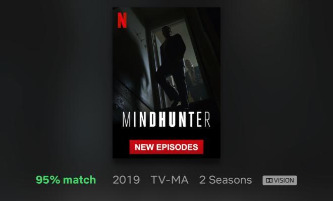 Minhunter Season 2 Netflix Dolby Vision