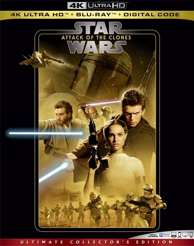 Star Wars Episode Ii Attack Of The Clones 4k Ultra Hd Blu Ray Ultra Hd Review High Def Digest