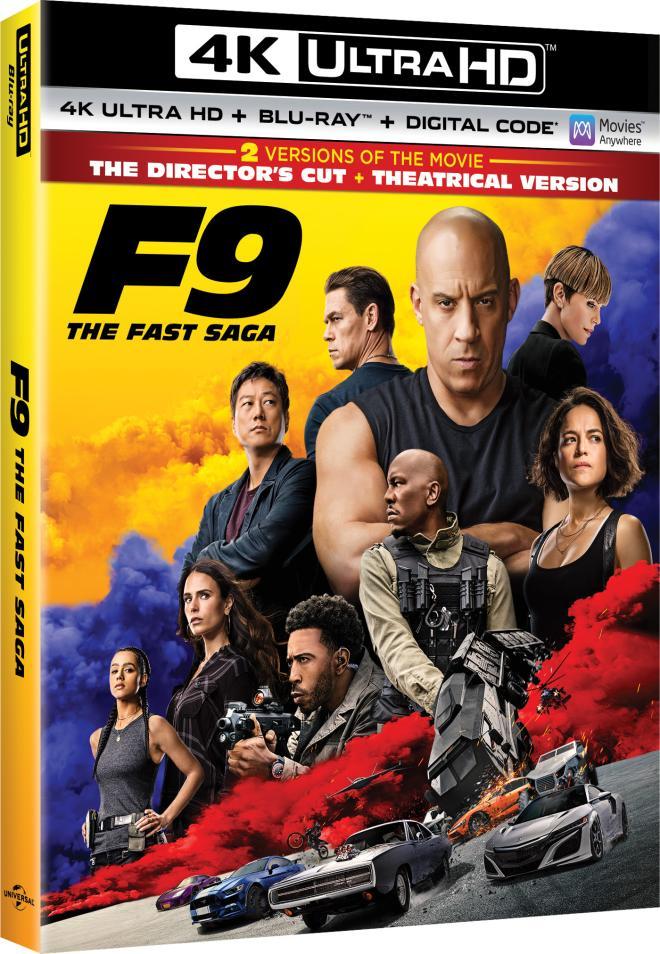 F9 The Fast Saga 4K UHD Blu-ray
